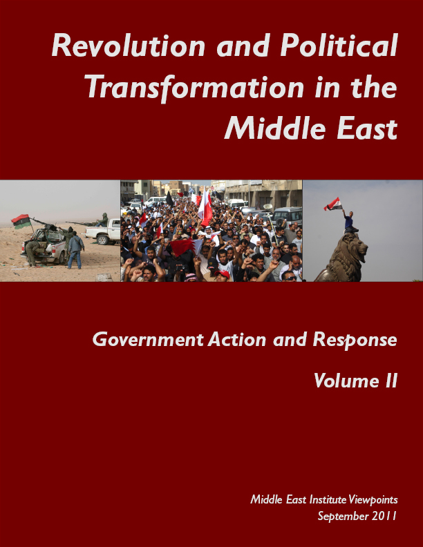 Introduction to Revolution and Political Transformation in the Middle East: Government Action and Response