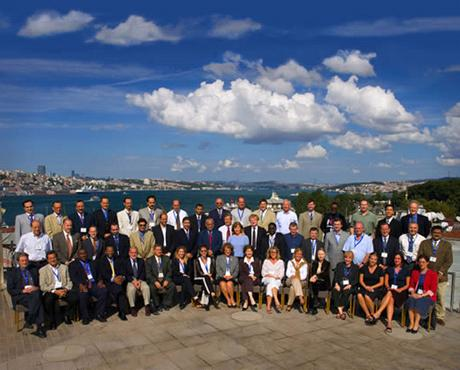 Figure 1: Conference Group Photograph — Istanbul, Turkey [Bosphorus in background. Photograph by Ali Kabas]