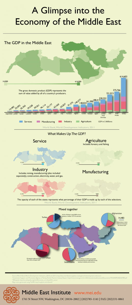 Infographic: A Glimpse into the Economy of the Middle East
