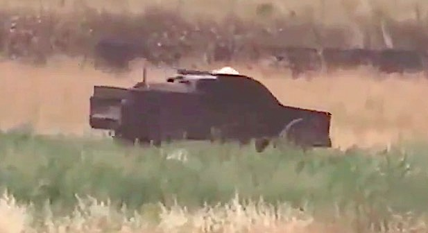 Footage from Baladi News showing an HTS up-armored SVBIED racing toward its target in Jalmeh, northern Hama on June 8, 2019.