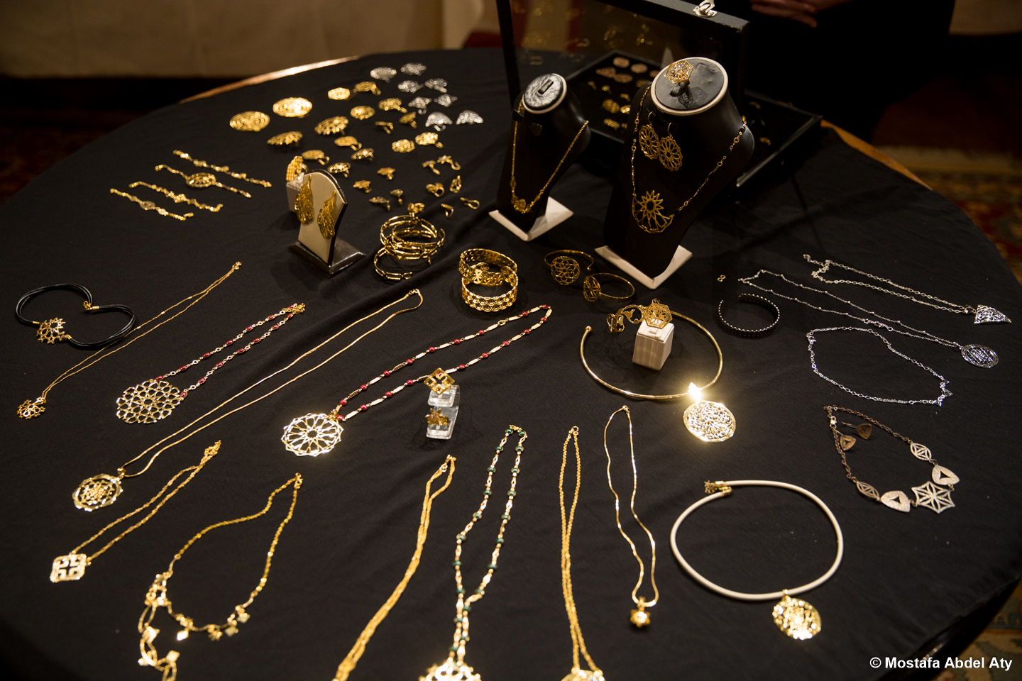 jewelry showcased at the exhibit