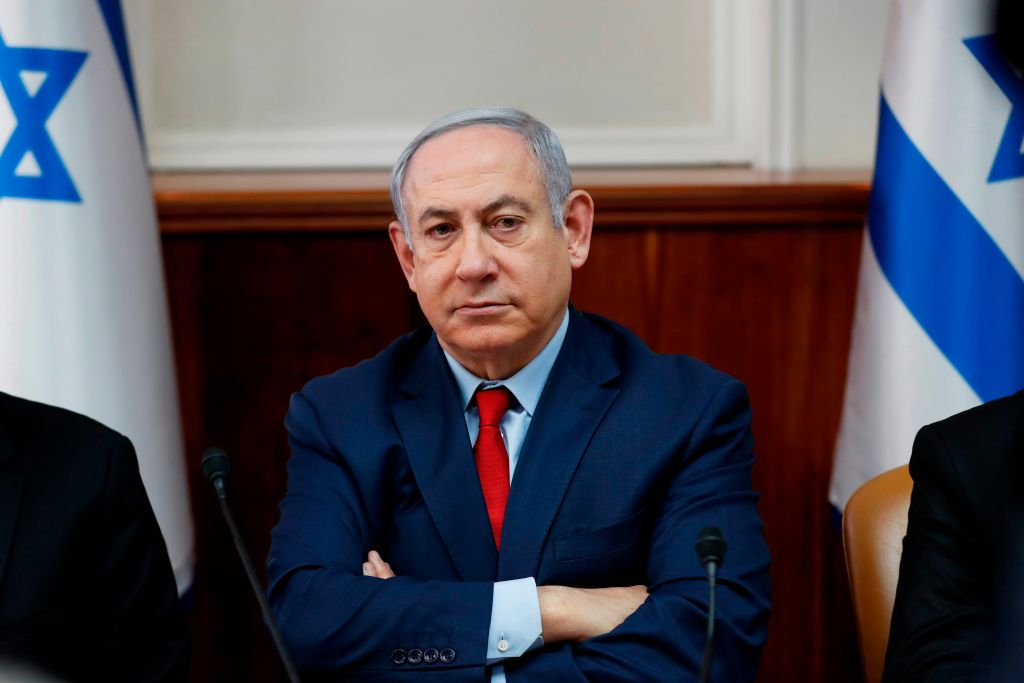 Israel's Prime Minister Benjamin Netanyahu attends the weekly cabinet meeting in Jerusalem on January 5, 2020.
