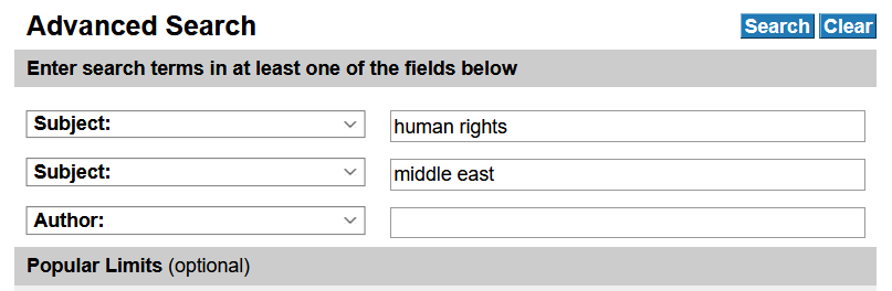 human rights search alternate