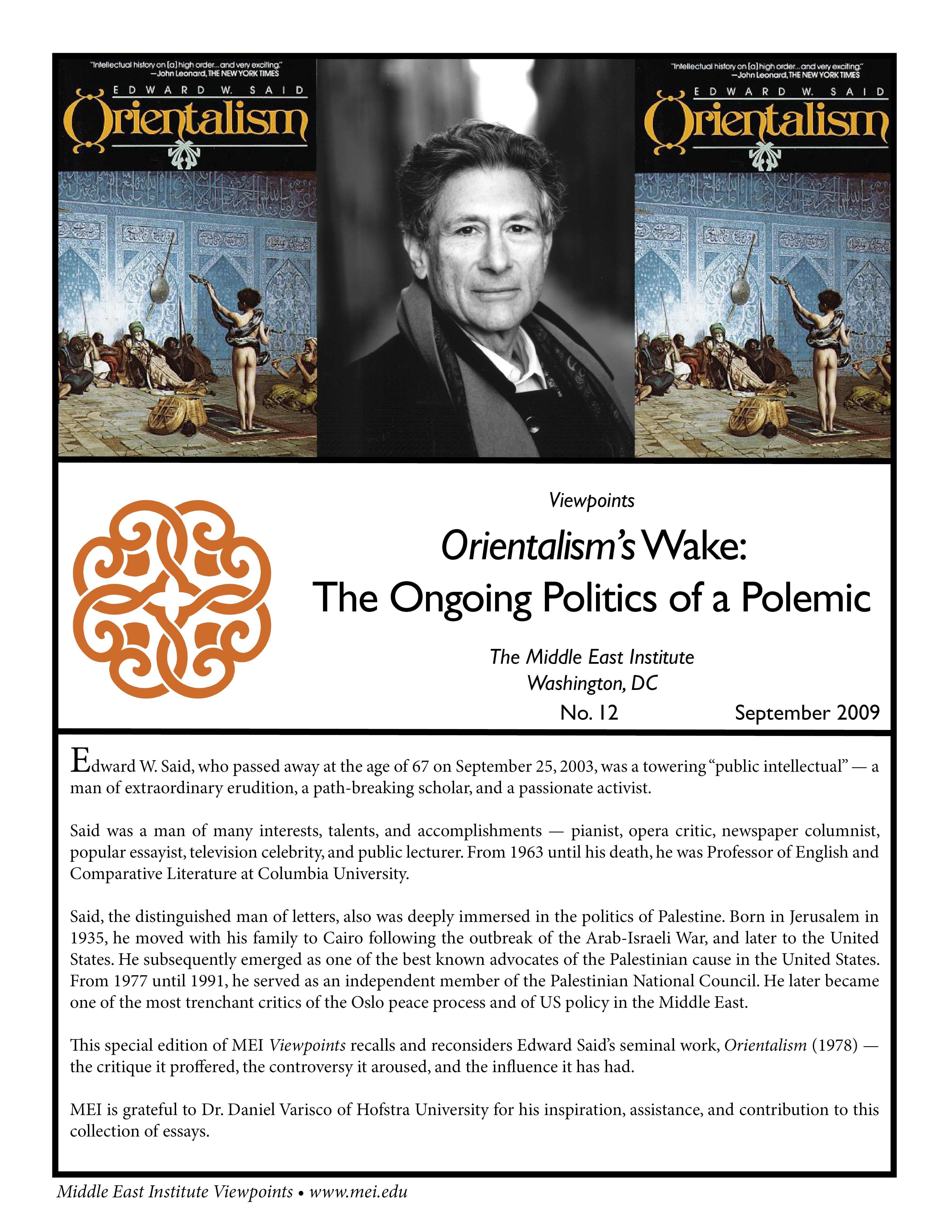 orientalism an overview essay Critical notes on edward said fundamental questions that aijaz ahmad has raised about said's method in his essay, 'orientalism and after' (in theory.