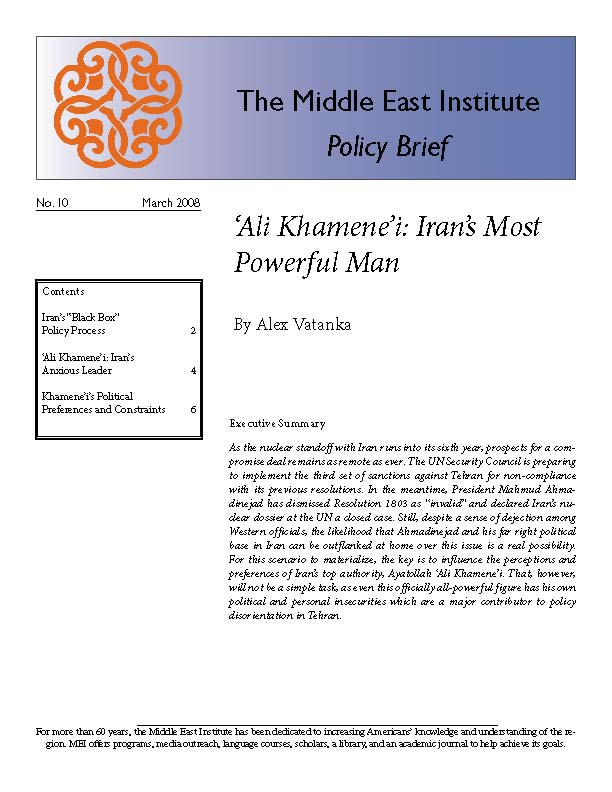 Ali Khamene'i: Iran's Most Powerful Man | Middle East Institute