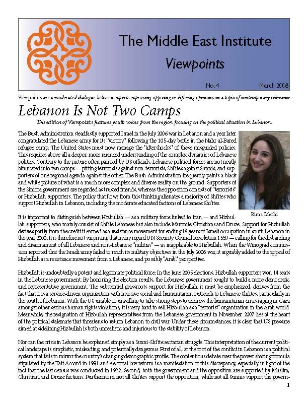 Lebanon is Not Two Camps Part 2