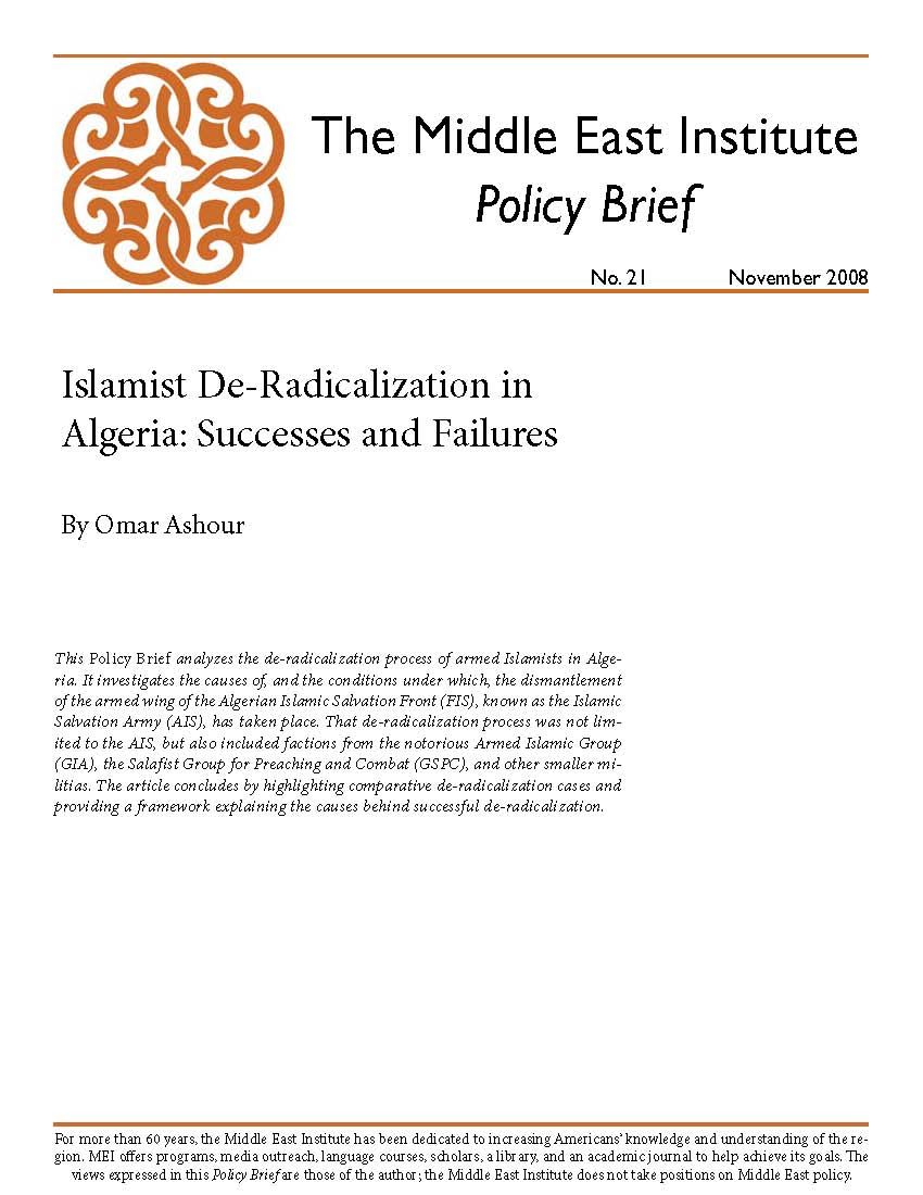Islamist De-Radicalization in Algeria: Successes and Failures