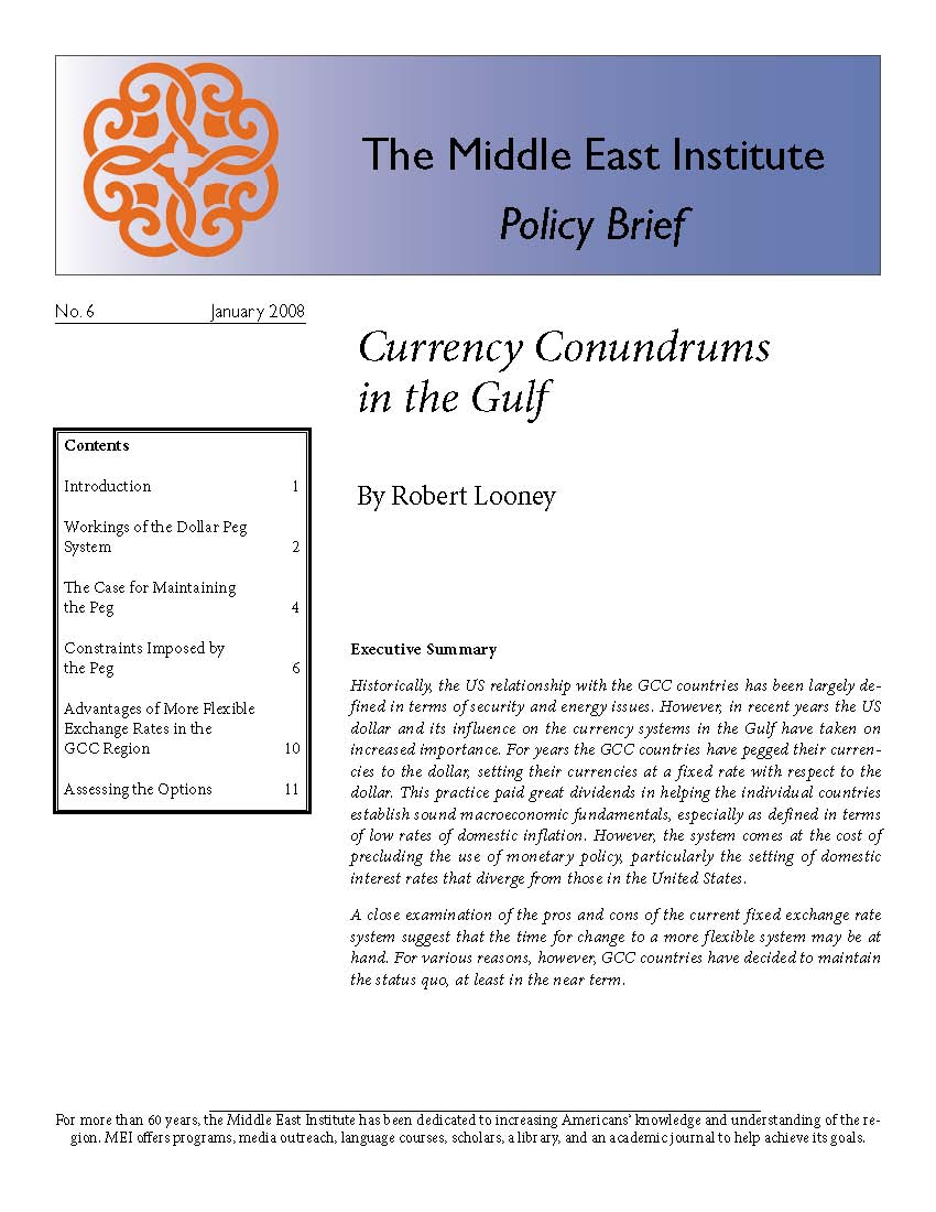 Currency Conundrums in the Gulf