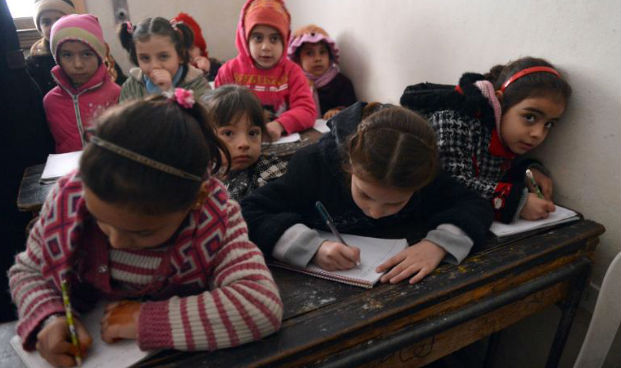 Syrian Refugees Children School