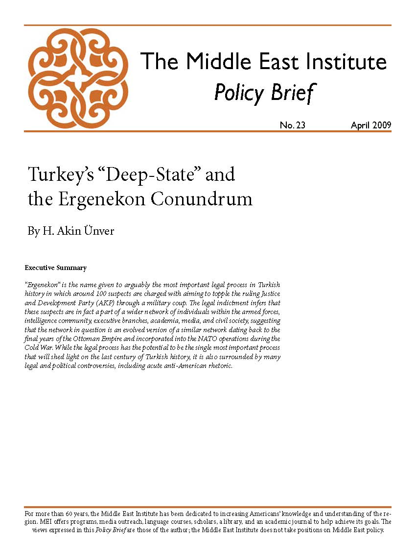 "Turkey's ""Deep-State"" and the Ergenekon Conundrum"