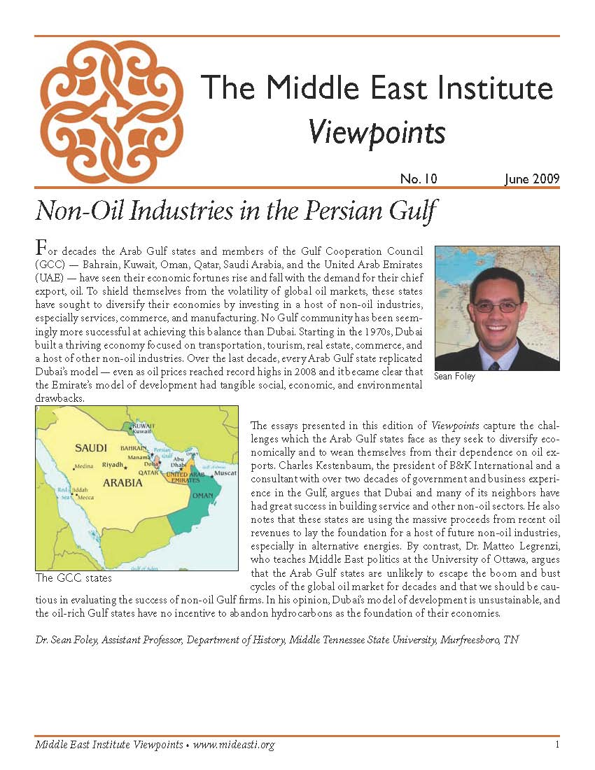 Introduction to Non-Oil Industries in the Persian Gulf