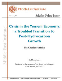 Crisis in the Yemeni Economy: A Troubled Transition to Post-Hydrocarbon Growth