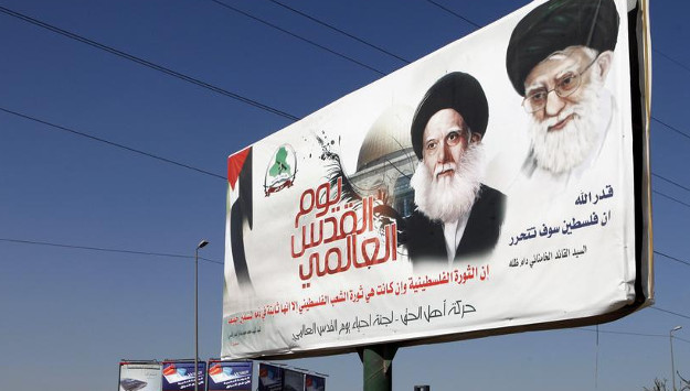 Video Shows Protesters Tearing up Posters of Khamenei, Pro-Iran Iraqi Leaders in Najaf