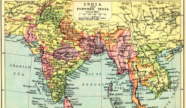 antique map of India before contemporary boundaries