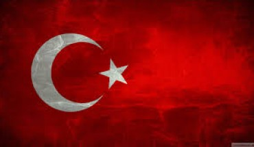 turkish flag - red field with crescent moon and star
