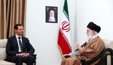 Iran's religious leader Ayatollah Ali Khamenei meets Syrian leader Bashar al-Assad in Tehran, Iran on February 25, 2019.