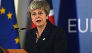British Prime Minister Theresa May speaks to the during the press conference at the end of the first day of the summit of European Union leaders on March 21, 2019 in Brussels, Belgium.
