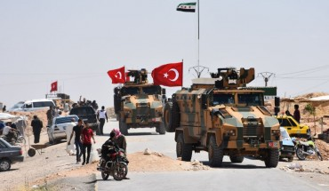 Turkish army completes round of patrols in Manbij. Credit: Anadolu Agency / Contributor
