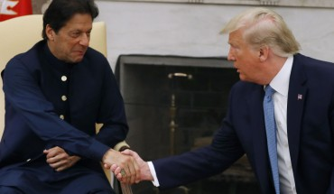 President Donald Trump Meets With Pakastani Prime Minister Imran Khan At The White House