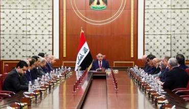 Iraqi Prime Minister Adel Abdul-Mahdi speaks during extraordinary cabinet meeting after he handed his resignation letter to the parliament, in Baghdad, Iraq on November 30, 2019.