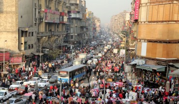 A picture taken on December 12, 2017 shows an elevated view of al-Attaba district on the edge of downtown Cairo, Egypt. Egypt is the most populated coutry in the Arab world with some 96 million inhabitants and the numbers are rising by 1.6 million every year.