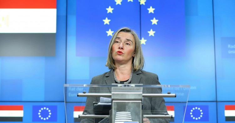High Representative of the European Union for Foreign Affairs and Security Policy Federica Mogherini, EU-Egypt Association Council meeting in Brussels, Belgium on December 20, 2018.
