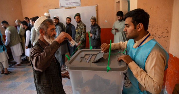 : Afghan vote in a key Presidential election on September 28, 2019 in Kabul, Afghanistan.