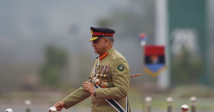 Pakistan Army Chief General Qamar Javed Bajwa arrives to attend the Pakistan Day parade in Islamabad on March 23, 2019.
