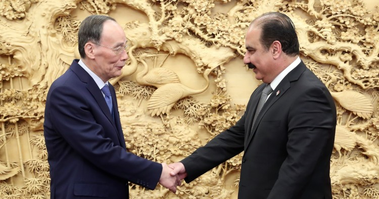 BEIJING, Nov. 22, 2019 -- Chinese Vice President Wang Qishan meets with a delegation of Syria's Arab Socialist Ba'ath Party, led by Helal Helal, deputy general secretary of the ruling party, in Beijing, capital of China, Nov. 22, 2019.