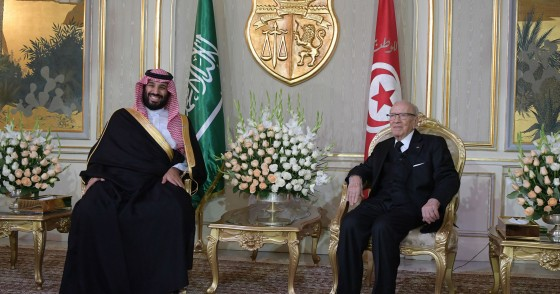Tunisian President and Saudi Crown Prince meetings