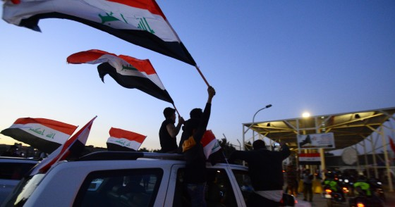 Iraqis celebrate the reopening of the Green Zone