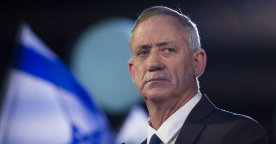 Benny Gantz a former head of the IDF and head of Israel resilience party speaks to supporters in a campaign event on January 29, 2019 in Tel Aviv, Israel.