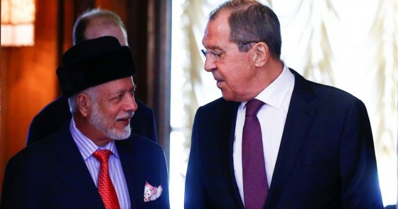 Omani Foreign Minister Yusuf bin Alawi bin Abdullah (L) meets Russian Foreign Minister Sergey Lavrov (R) in Moscow, Russia on 18 February, 2019.