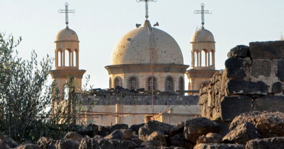 A picture shows the new church of Sayyidet al-Beshara in Shaqra town in the southern Syrian province of Daraa on December 22, 2019. - Less than 10 kilometres (six miles) away lies the mainly Christian town of Shaqra, emptied of most of its Christian residents after a spate of attacks by rebels and jihadists during the conflict. Such attacks have stopped since the area came back under regime control, but very few Christian families remain. (Photo by MAHER AL MOUNES / AFP) (Photo by MAHER AL MOUNES/AFP via Ge