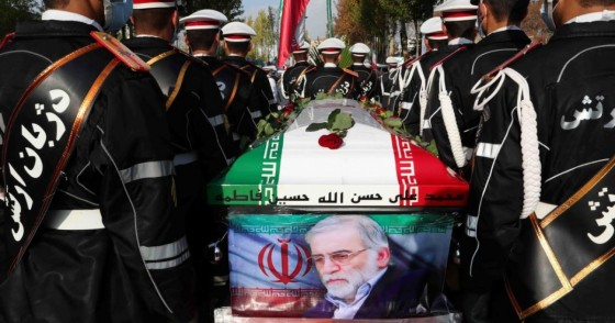 A funeral ceremony of Iranian Top nuclear scientist, Mohsen Fakhrizadeh Mahabadi, held at Defense Ministry of Iran in Tehran, Iran on November 30, 2020. Fakhrizadeh, who headed research and innovation at the defense ministry, was attacked Friday in Damavand county near Tehran.