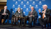 Amb. Daniel Kurtzer, Amb. Deborah Jones, Amb. Robert Pearson, and Richard A. Clarke