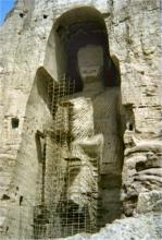 Image of the larger Buddha of Bamiyan before its destruction