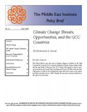 Climate Change Threats, Opportunities, and the GCC Countries