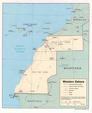 Political Map of Western Sahara