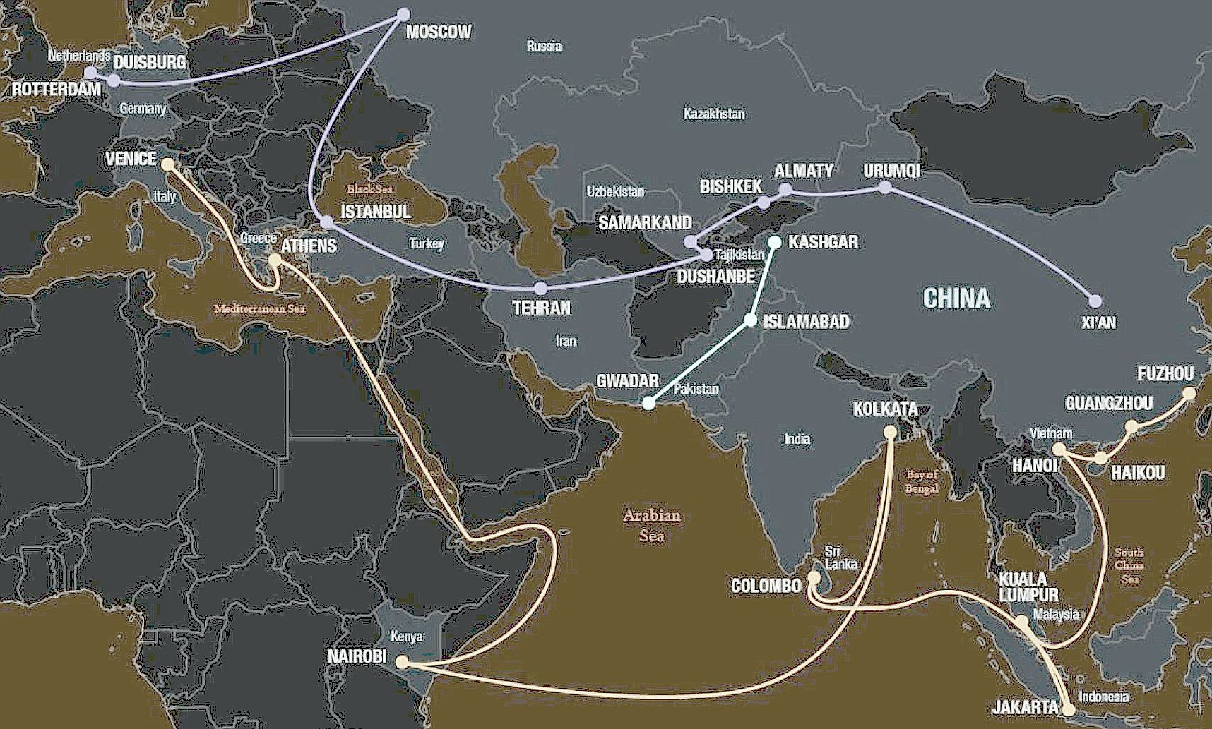 the g c c  countries and china u2019s belt and road initiative