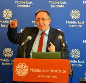 "Samir Altaqi at ""The Collapse of Syria"" (July 16, 2014)."